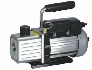 A series single stage vacuum pump for freezer parts