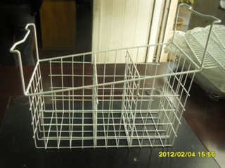 Wire Freezer Basket with Dividers