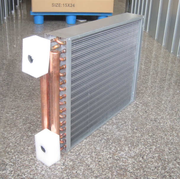 fin type copper alloy heat exchanger For wood furance