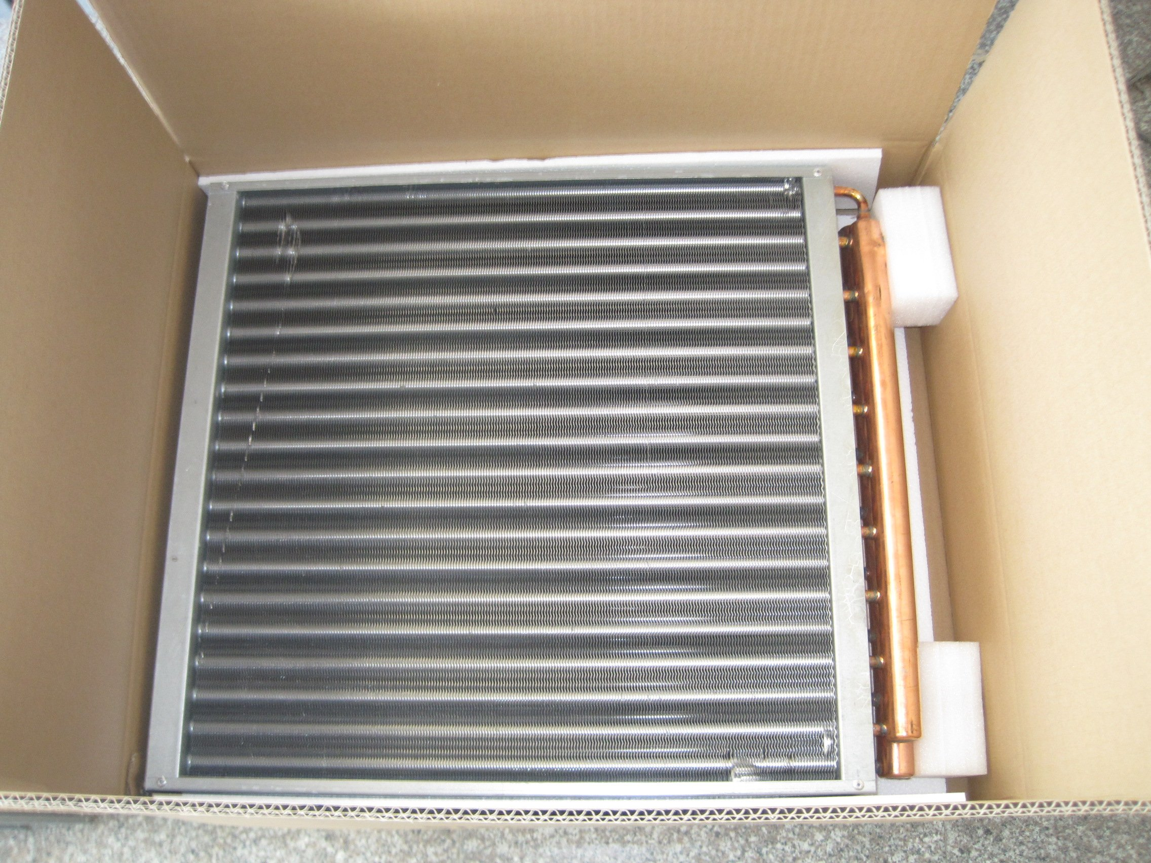 copper water to air heat exchanger For Refrigeration
