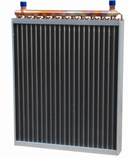 copper pipe fin type heat exchanger for deep freezer